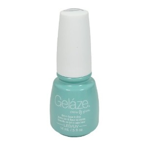 China Glaze Gelaze 100% Gel-n-Base Polish  For Audrey  0.5 Ounce