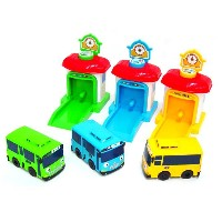 the Little Bus Tayo Shooting Car 3-Set / Bus&Garage Toys / Gift for Kids / Korean Animation