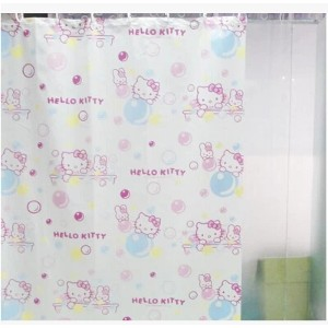 hello kitty cute cartoon creative personality waterproof shower curtain curtain curtain hooks...