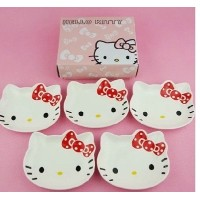 Cartoon hello kitty ceramic tableware set ceramic bowl ceramic dish dessert dish dish dish red /...