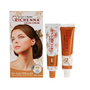 Richenna Hair color cream 1 set D.I.Y.special hair coloring henna contains reduce damage on sculp