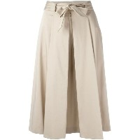 Boutique Moschino - pleated belted skirt - women - コットン/other fibers - 46