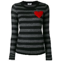 Sonia By Sonia Rykiel - stripe heart Intarsia jumper - women - アクリル/ポリエステル/ウール - L