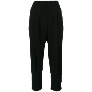 Alberto Biani - cropped trousers - women - アセテート/トリアセテート/ビスコース/polyester - 40