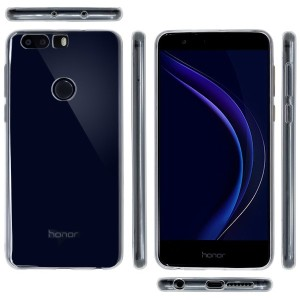 OVER's Huawei Honor 8 ケース / ファーウェイ Honor8 カバー 0.8mm TPU 4点セット ( Honor ケース *1 & 液晶保護フィルム*1 & ミニクロス*1...