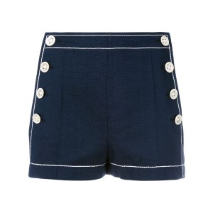 Agnona - side button shorts - women - コットン - 42
