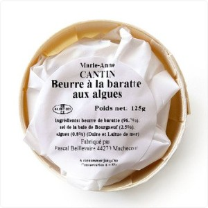 【125g】マリーアンヌ・カンタン 発酵バター Marie-Anne Cantin Beurre de Baratte 125g (海藻入り)