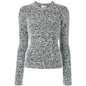 Carven - spotty knitted jumper - women - コットン/アクリル/ポリアミド - L