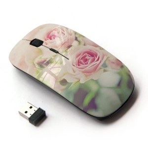 KOOLmouse [ ワイヤレスマウス 2.4Ghz無線光学式マウス ] [ Ruses Focus Flowers Green Field Summer ]