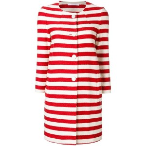 Tagliatore - striped coat - women - コットン/キュプロ - 48
