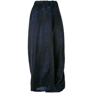 Y's - long wrap skirt - women - コットン/レーヨン - 2