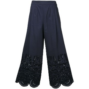 Muveil - cropped trousers - women - コットン - 36