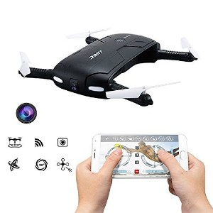 Pocket Selfie Drone Quadcopter, JJRC H37 Elfie Pocket Fold Portable Photography Wifi FPV With 0.3MP Camera Phone Control RC Drones Quad copter RTF Helicopte by JJRC