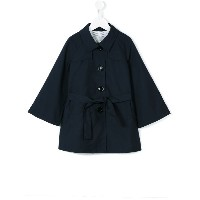 Herno Kids - single breasted trench coat - kids - コットン/ポリエステル - 12歳