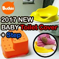 [Budsia Korea] 2017 NEW Upgraded Non-Slip Soft Cushion Baby Toilet Cover High-backed Seat/ Safe...