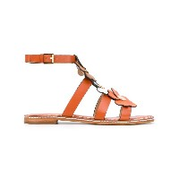Michael Michael Kors - flower appliqué sandals - women - レザー - 8.5