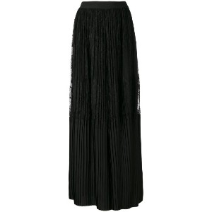 Twin-Set - pleated lace palazzo trousers - women - ポリアミド/ポリエステル - 48