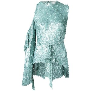 Magda Butrym - sequin embellished tie waist blouse - women - シルク/ポリエステル - 36