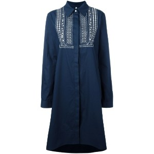 Miahatami - embroidered dress - women - コットン - 42