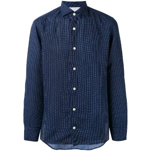 Eleventy - longsleeve button-up shirt - men - コットン/リネン - 43