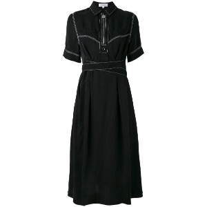 Carven - zip-up collar dress - women - キュプロ - 36