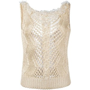 Ermanno Scervino - embellished knitted tank - women - ビスコース - 38