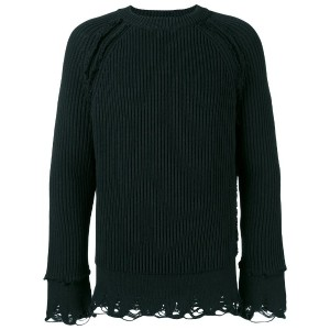 Haider Ackermann - ribbed jumper - men - コットン/カシミア - S