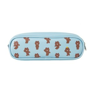 Line Friends Store Official Character Pattern Square PVC Pencil Case