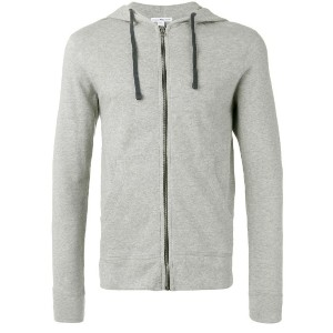 James Perse - zipped hoodie - men - コットン - L