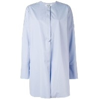 Jil Sander - collarless shirt - women - コットン - 40