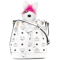 MCM - Visetos drawstring bag with charm - women - カーフレザー/PVC - ワンサイズ