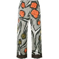Pleats Please By Issey Miyake - floral print pleated trousers - women - ポリエステル - 2