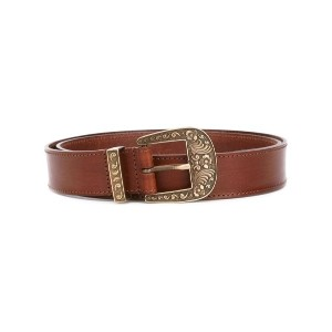Alberta Ferretti - embossed buckle belt - women - カーフレザー - M