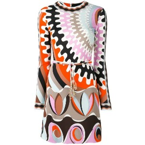 Emilio Pucci - printed fitted dress - women - シルク/スパンデックス/ビスコース - 42