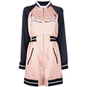 Red Valentino - embroidered bomber dress - women - ポリエステル/スパンデックス/ビスコース/Polyimide - 42