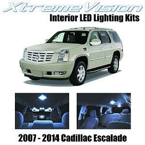 XtremeVision Cadillac エスカレード 2007-2014 (16 Pieces) クール ホワイト プレミアム Interior LED キット Package +...