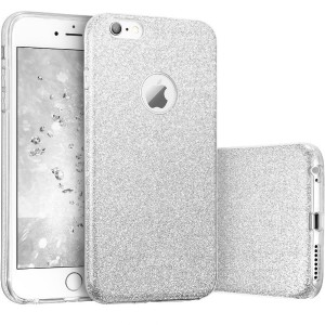 Imikoko iPhone6 6s ケース キラキラケースbling-bling case for Apple iPhone 6s 6 衝撃吸収 (4.7インチ)(Silver)
