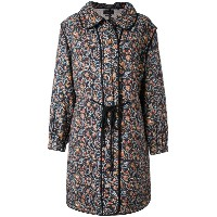 Isabel Marant - quilted floral coat - women - シルク/コットン - 38