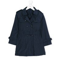 Lapin House - belted trench coat - kids - コットン/ポリウレタン/Tactel - 8歳