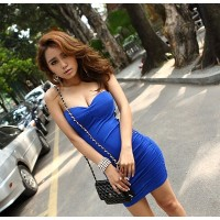 Sexy party dress-blue