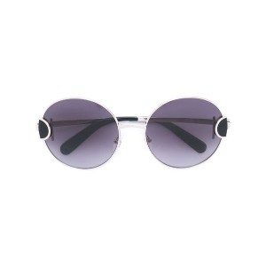 Salvatore Ferragamo - round sunglasses - women - アセテート/金属(めっき) - 59