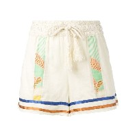 Semicouture - striped shorts - women - コットン - 42