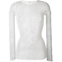 R13 - sheer cashmere top - women - カシミア - XS