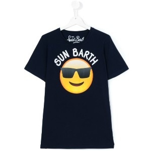 Mc2 Saint Barth Kids - emoji print T-shirt - kids - コットン - 14 yrs