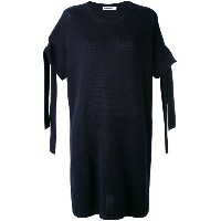 Jil Sander - sleeve detail dress - women - カシミア - 42