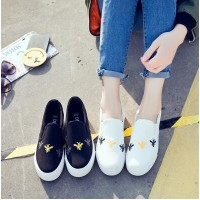 Flat cloth shoes a pedal canvas shoes female students Korean wild lazy shoes small white shoes