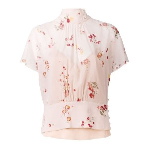 Red Valentino - floral blouse - women - シルク/スパンデックス - 42
