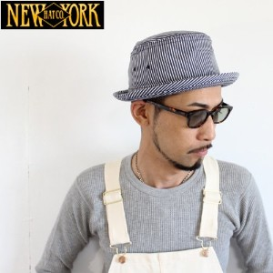 USA製NEW YORK HAT(ニューヨークハット)ヒッコリーストライプポークパイハット#3060/HICKORY STINGY