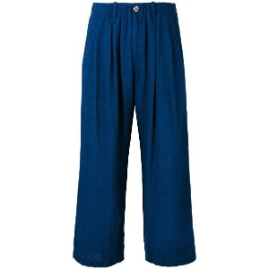 Blue Blue Japan - cropped trousers - women - リネン/レーヨン - M