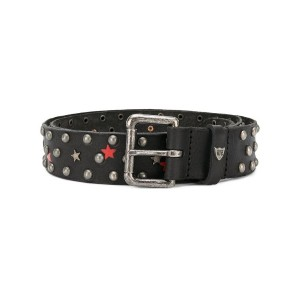 Htc Hollywood Trading Company - metallic-studded belt - men - レザー - 75